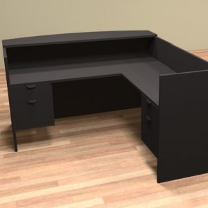 Common Sense of Central Florida carries the l shaped reception desk, perfect rental furniture for any office.