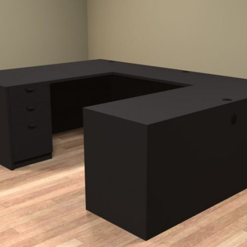 Common Sense of Central Florida carries the u shaped corner desk, the perfect rental furniture for any office setting.